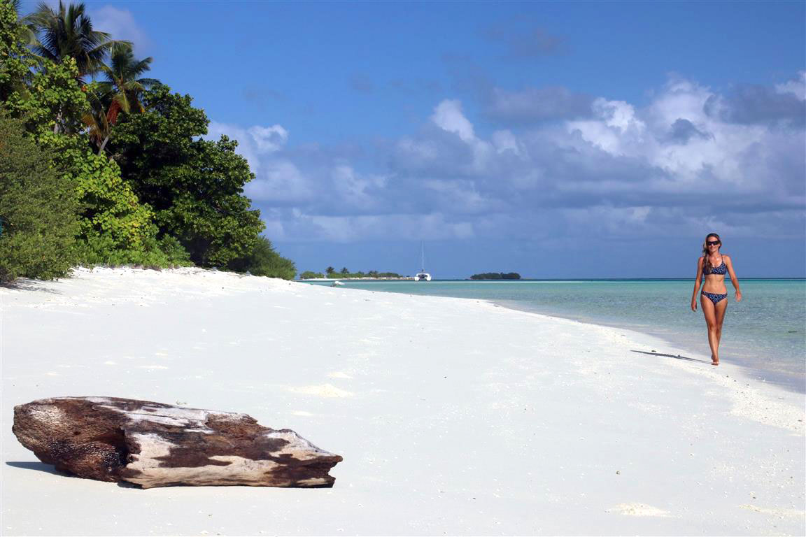 Dreamy white sand beach in the Maldives | All-inclusive Maldives Holidays | Elysia Yacht Charters