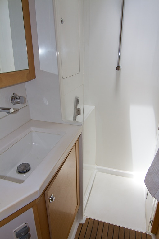 Ensuite Shower | Elysia Yacht Charters